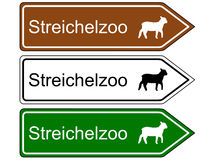 Direction sign children�s zoo Royalty Free Stock Image