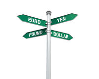Direction Sign of Currency Royalty Free Stock Photos