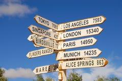 Direction Sign In Australia Stock Photos