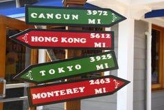 Direction Sign Kona Hawaii Royalty Free Stock Photos