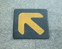 Direction sign on platform Royalty Free Stock Images