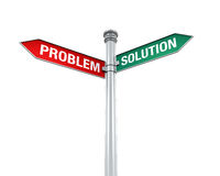 Direction Sign of  Problem and Solution Stock Image