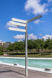 A blank directions sign Stock Photography