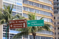 Direction sign in Rio Stock Image