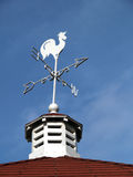 Direction sign on the roof. North south west east sign top roof Stock Image
