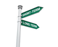 Direction Sign of Short-Term and Long-Term Stock Photo