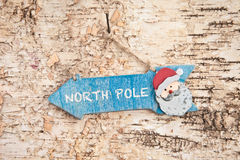 Direction sign to Santa Claus Stock Photography