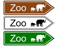 Direction sign zoo. Detailed and colorful illustration of direction sign zoo Stock Photography