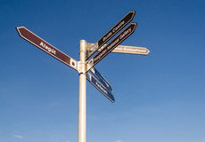 Direction signpost Royalty Free Stock Image