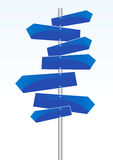 Direction Signs. Vector illustration of direction signs Stock Image