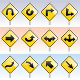 Direction Signs. Vector illustrations of some direction signs Stock Image