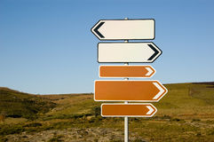 Direction signs Royalty Free Stock Image
