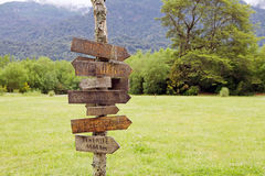 Direction signs, Chile Royalty Free Stock Photography