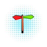 Direction signs icon, comics style Royalty Free Stock Photo