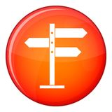 Direction signs icon, flat style Stock Photography