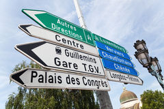 Direction signs in Liege Royalty Free Stock Image