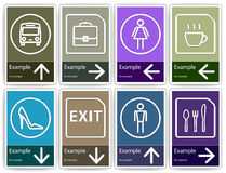 Direction signs mockup. Royalty Free Stock Photo
