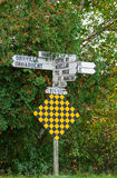 Direction signs in northern Ontario Royalty Free Stock Image
