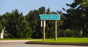 Direction signs in Oklahoma City. USA 2017 Stock Photos