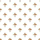 Direction signs pattern, cartoon style Royalty Free Stock Photography