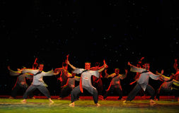 The direction of the stars-The Nuo-The exorcism dance. In December 27, 2014, the Department of dance of the students are for the annual graduation performance Royalty Free Stock Photography