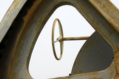 Direction Steering wheel And metal parts Stock Photography