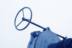Direction Steering wheel And metal parts Stock Image
