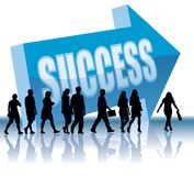 Direction - Success. People are going to a direction - Success Stock Photo