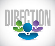 Direction team sign illustration design graphic Stock Photography