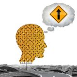 Direction Thinking Business Concept stock illustration