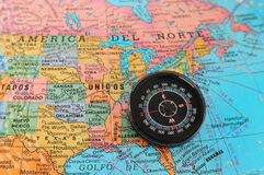 Direction to east USA. Royalty Free Stock Photo