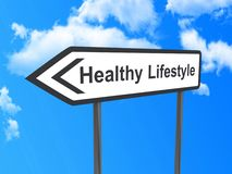 Direction to healthy lifestyle Royalty Free Stock Photo