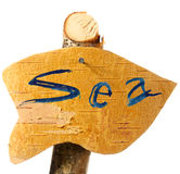 Direction to sea Stock Photo