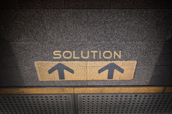 Direction to solution Royalty Free Stock Photography