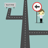 Direction to success Royalty Free Stock Images