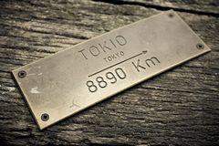 Direction Tokyo Japan concept Royalty Free Stock Photography