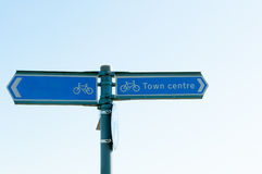 Direction for Town centre close up Royalty Free Stock Photography