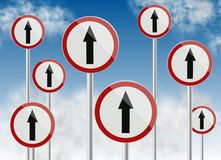 Direction traffic signs Royalty Free Stock Image