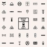 Direction of train line icon. Railway Warnings icons universal set for web and mobile. On colored background stock illustration
