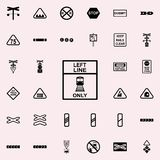Direction of train line icon. Railway Warnings icons universal set for web and mobile. On colored background vector illustration