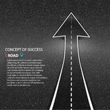 Direction of the way. Asphalt road  texture. The concept o Royalty Free Stock Photos