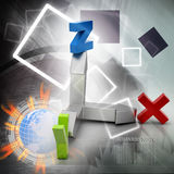 Direction of x,y and z axis Royalty Free Stock Photo