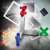 Direction of x,y and z axis Stock Photos