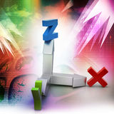 Direction of x,y and z axis Stock Photo