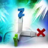 Direction of x,y and z axis Stock Photography