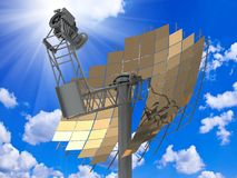 Directional antenna solar panels Royalty Free Stock Image