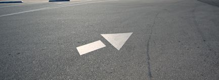 Directional arrow. Stock Photography