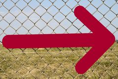 Directional arrow fence Royalty Free Stock Photos