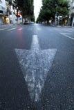 Street Arrow & Crosswalk Stock Images