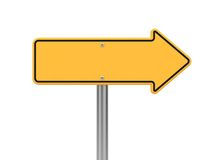 Directional Arrow Road Sign. Isolated on White Stock Photography